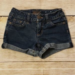 Girls Justice Jean shorts size 8